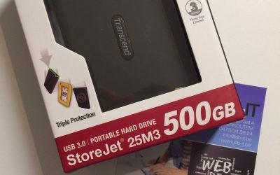 Transcend USB 3.0 500GB wedstrijd