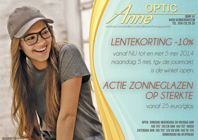 JDB-IT Grafisch design: Advertentie Optic Anne