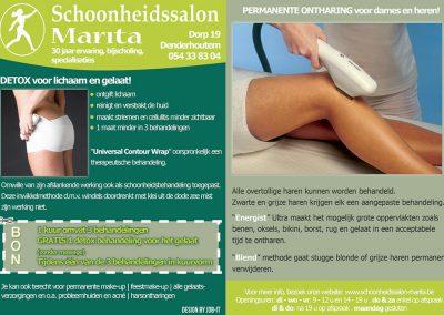 JDB-IT Grafisch design: Advertentie Schoonheidssalon Marita