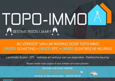 JDB-IT Grafisch design: Advertentie Topo-Immo