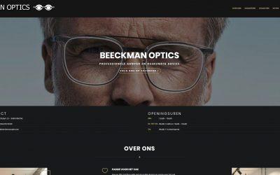 Vernieuwde site voor Beeckman Optics