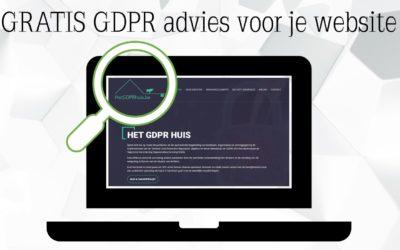 Gratis GDPR advies voor je website