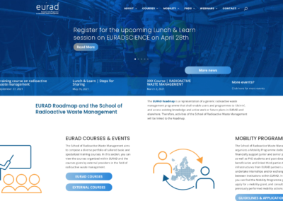 EURAD Roadmap and the School of Radioactive Waste Management